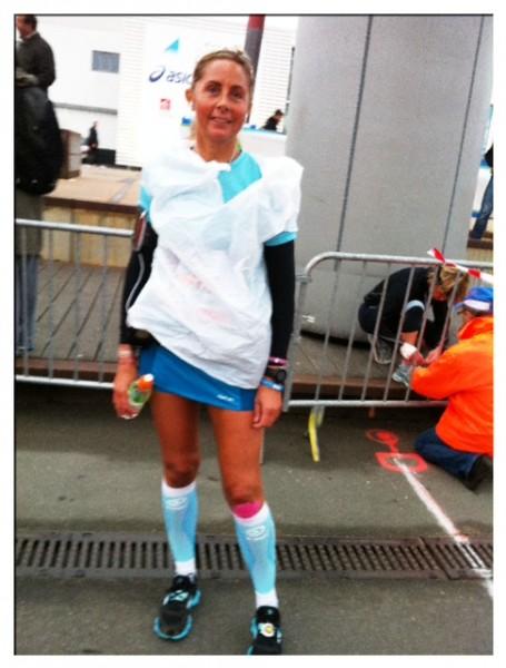 Carine, au marathon de la Rochelle