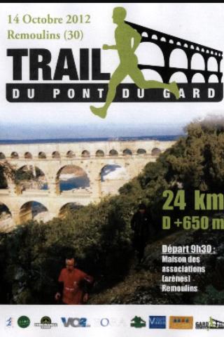 course trail pont du gard 2012