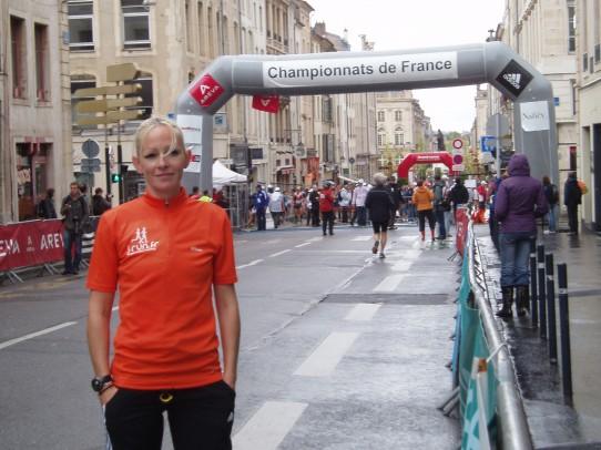 céine brunet au championnat de france de semi marathon à nancy