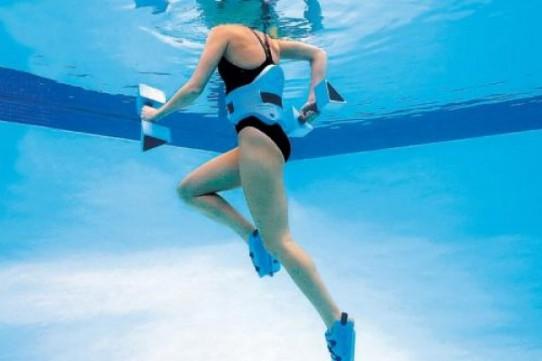 courir dans l'eau