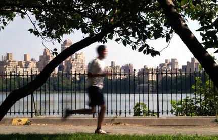 Jogging à Central Park, NYC