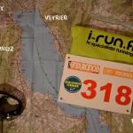 2 - Carte de la région avec le dossard 318, l'outsider à suivre