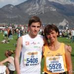 4 - Moi et ma tante sur le semi-marathon d'Annecy en 2010