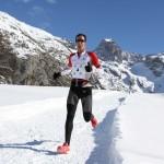 1 Michel Lanne  1er  22 km Snow trail Ubaye Salomon 2013 photo Robert Goin