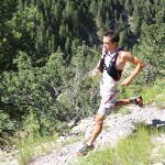 Matthias Mouchart  reconnaissance 42 km trail Ubaye Salomon photo Robert Goin
