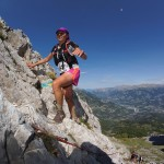 Sarah Vieuille 1er dame 42km Trail Ubaye Salomon photo Clément Barbeau