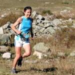 Virginie Govignon lors de victoire sur l'étape du Serre Che Trail Salomon photo Robert Goin