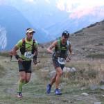Serre Che trail Salomon 2014 de g à d Fabien Nabias 1er exaequo  et Julien Navarro 3ème 48 km photo Robert Goin
