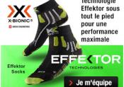 Les nouvelles chaussettes Effektor de X-BIONIC