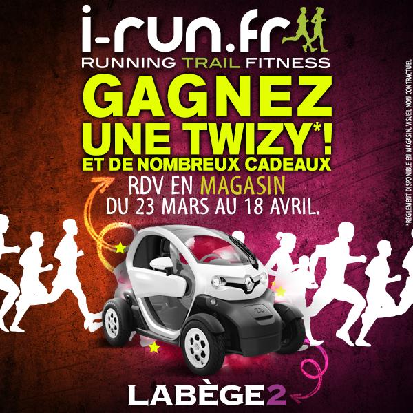 Une Voiture Renault Twizy 224 Gagner Avec I Run Fr U Run