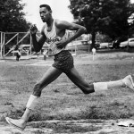 Young Wilt Chamberlain Shown Running