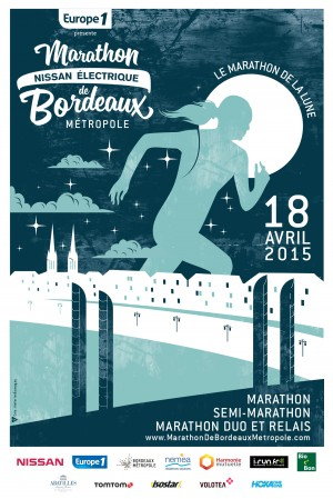 Affiche Marathon de bordeaux