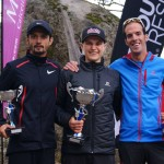 David Byrne, Blake Hose et Michel Lanne  Buffalo Stampede Skymarathon souce photo facebook.comsalomonrunning