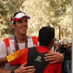 Michel Lanne arrivée du Buffalo Stampede Skymarathon souce photo facebook.comsalomonrunning