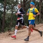 2015 TNF 100  Australia de g à d François D'Haene et Dylan Bowman  photo Damien Rosso www.droz-photo.com
