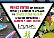 Venez tester les produits BROOKS, RAIDLIGHT et MCDAVID chez i-Run.fr !