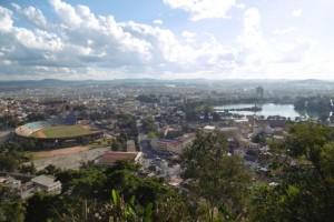 Vue de Tana depuis la ville haute