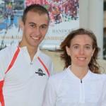 Salomon Bandol Classic Nicolas Baudry et Lisel Dissler  après leur victoire en 2010 photo Robert Goin