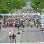 départ du marathon de Stockholm
