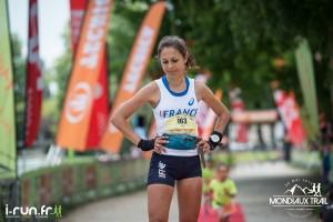 Sylvaine Cussot - arrivée mondiaux trail