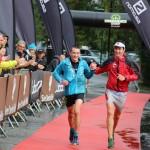Gaël Reynaud et Léo Viret vainqueurs 28 km Serre Che Trail Salomon photo Robert Goin