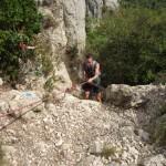 Clément PETITJEAN au Grand Rocher-CP Combes et Crêtes