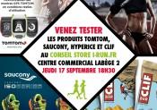 Animation Saucony, Tomtom, Clif et Hyperice chez i-Run.fr à Labège