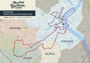 Parcours marathon de bordeaux