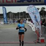 Trail des Sangliers arrivée Sylvaine Cussot