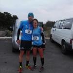 Sissi Cussot et Manu Gault au départ du Trail des Sangliers