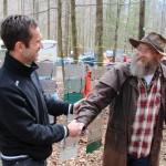 Rely Jegard avec Laz, organisateur de la Barlkey