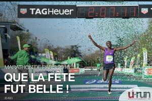 marathon de Paris-arrivée du vainqueur