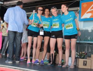 podium relais féminin