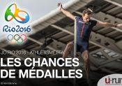 JO Rio 2016 : Les chances de médailles en athlétisme