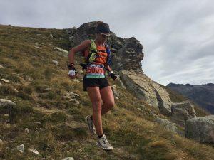 Maud Gobert dans la descente du Mont Archas (@fred bousseau)