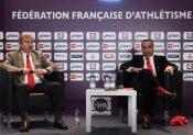 Voeux du président de la Fédération Française d'athlétisme, andré Giraud, Stade Charlety, Paris le 18 janvier 2017. Photo Stéphane Kempinaire/KMSP