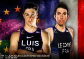Championnats d'Europe de triathlon Sprint : Luis et Le Corre y croient !