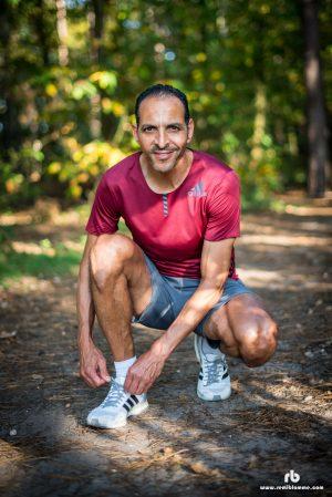 Mohamed Serbouti à l'entrainement pendant le Ramadan