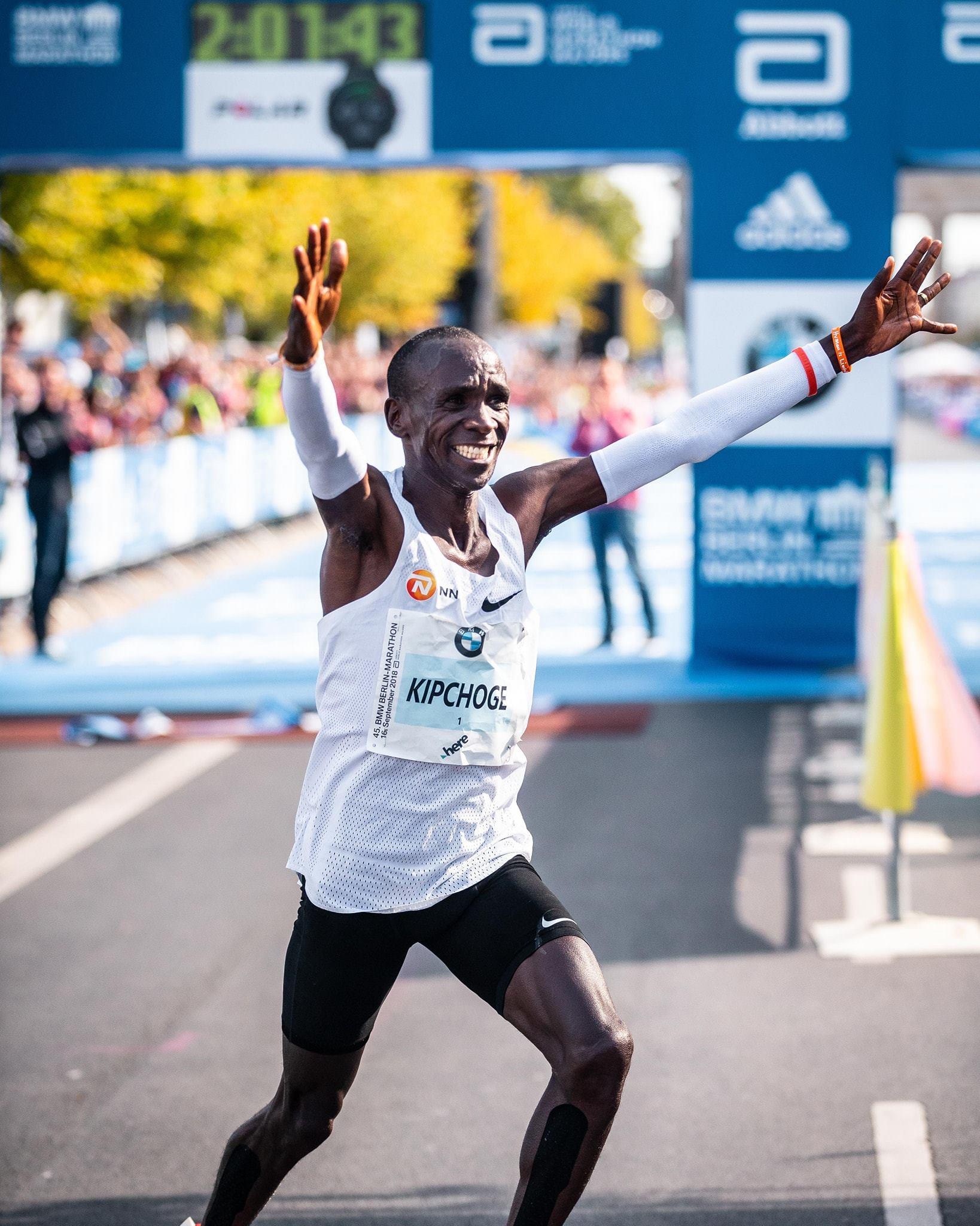 Record De Marathon Kipchoge Du À Monde BerlinEliud Au Sommet FKlT1Jc3