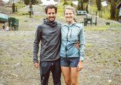 Katie Schide et Germain Grangier au départ de l'UTMB !