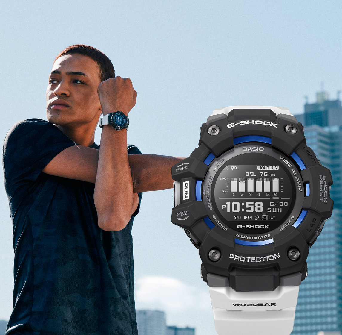 G Squad HR de Casio : montre cardio connectée pour l'outdoor  YWwo3