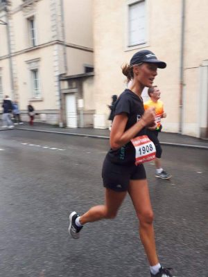 mélanie sur son marathon