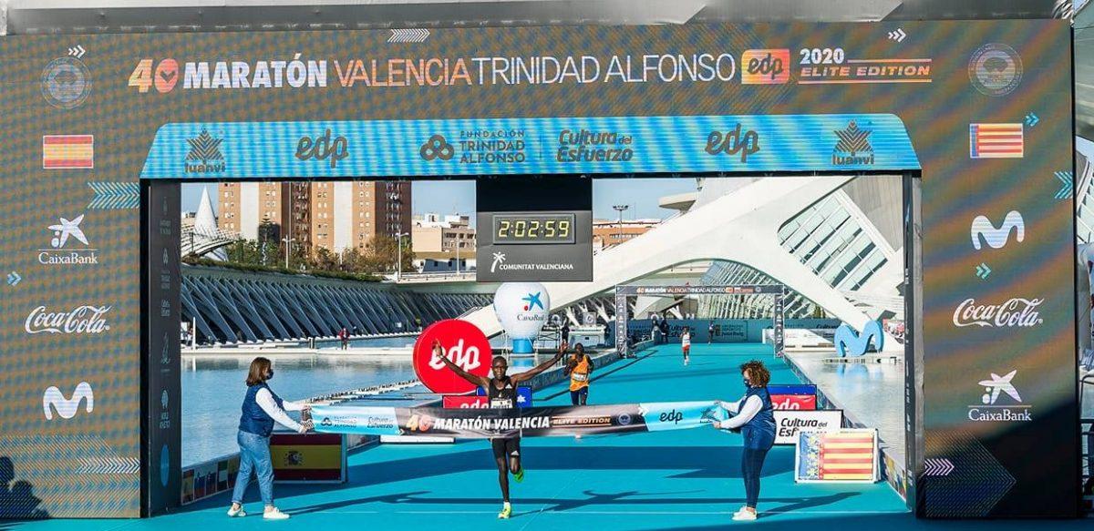 arrivée premier homme du marathon de Valence