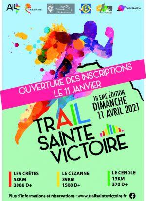 affiche trail Sainte Victoire